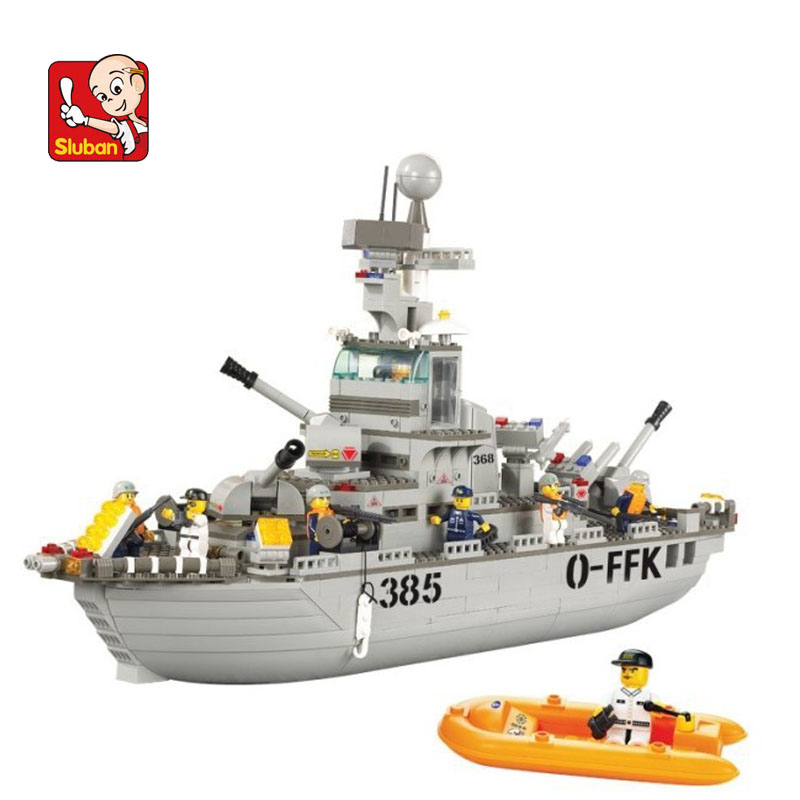 Sluban Model Toy Compatible B0126 577pcs Military Cruiser Sea Model Building Kits Toys Hobbies Building Model Blocks s model compatible with lego b0126 577pcs military cruiser sea models building kits blocks toys hobby hobbies for boys girls