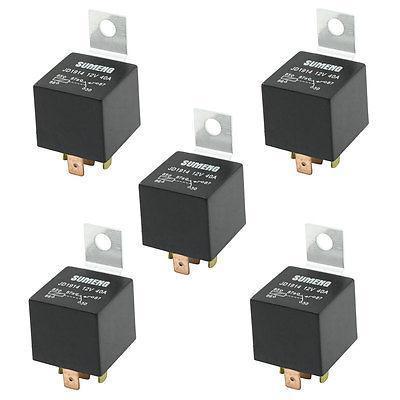 цена на DC 12V 40A 1NO 1NC SPDT 5 Pin Male Plug Truck Car Power Relay 5 Pcs