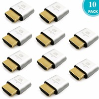 FUERAN DDC EDID HDMI Dummy Plug Headless Ghost Display Emulator 2K 4K Fit Headless 1920x1080 New