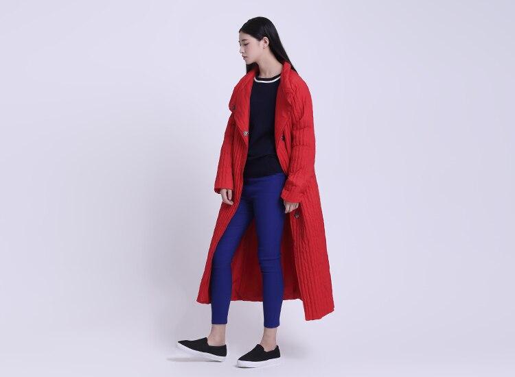Canard Blanc Longue Maxi Veste Rouge Outwear Manteau Femmes D'hiver Originale Couleur Lâche De Duvet Conception 2018 FOwvqT