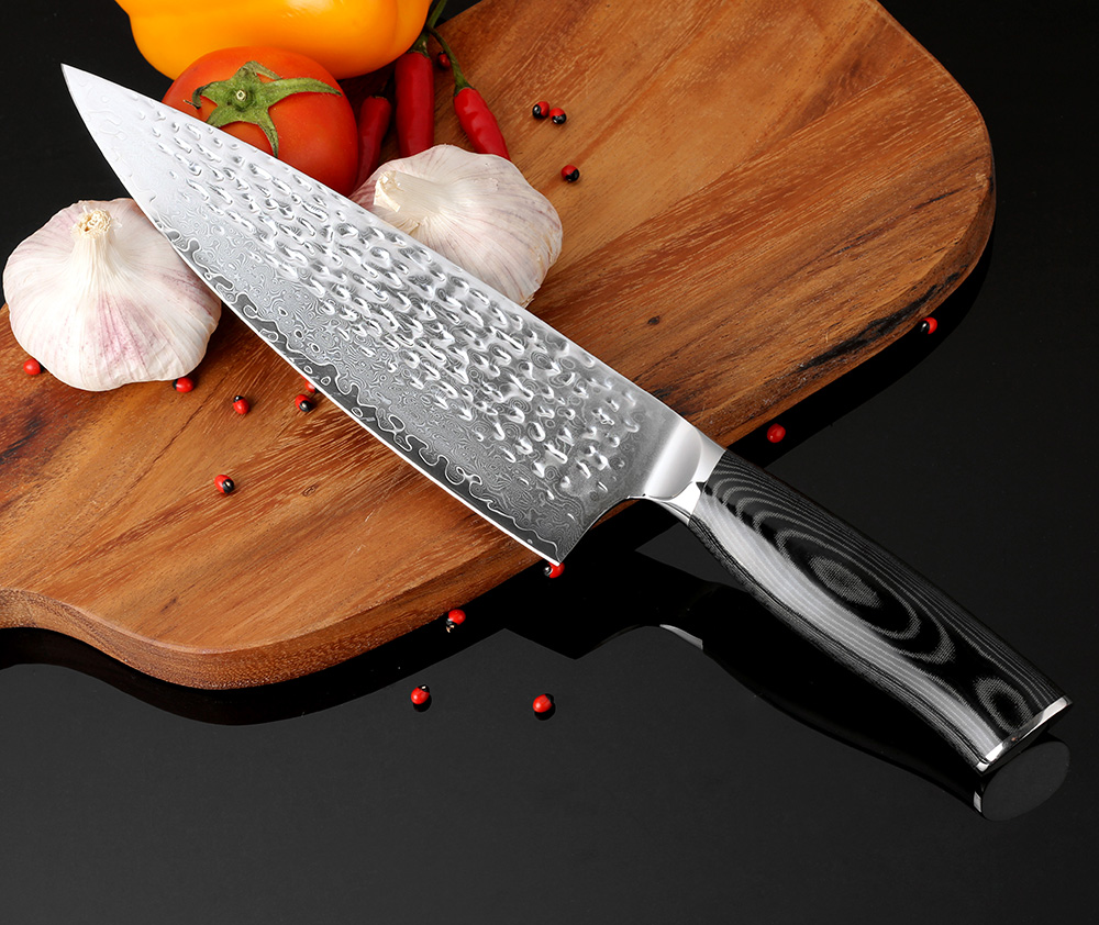 Hand Forged Damascus Chef Knife Coastal Home Living