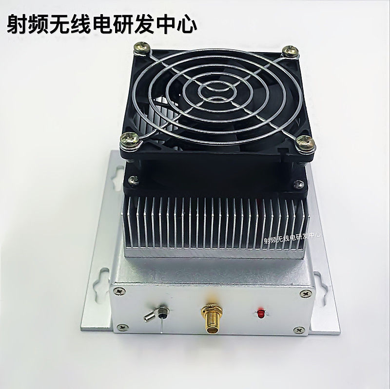 где купить 400-470MHZ UHF 433MHZ 40W UHF RF Radio Power Amplifier AMP DMR + heatsink + Fan дешево