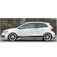 World Datong Sport Stripes Car Stickers For Volkswagen POLO GTI 5 6 7 Auto Body Customized Decal Exterior Accessories