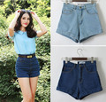 Woman' High Waist Vintage Girl's Denim Shorts Big Size 26-30 Brand Aa Casual Sexy Shorts For Spring Summer Autumn Winter