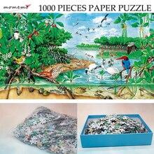 MOMEMO The Mangrove Natural Landscape Puzzle 1000 Pieces Paper Original Hand-painted Ecosystem Jigsaw Puzzle Exquisite Toys Gift цена в Москве и Питере