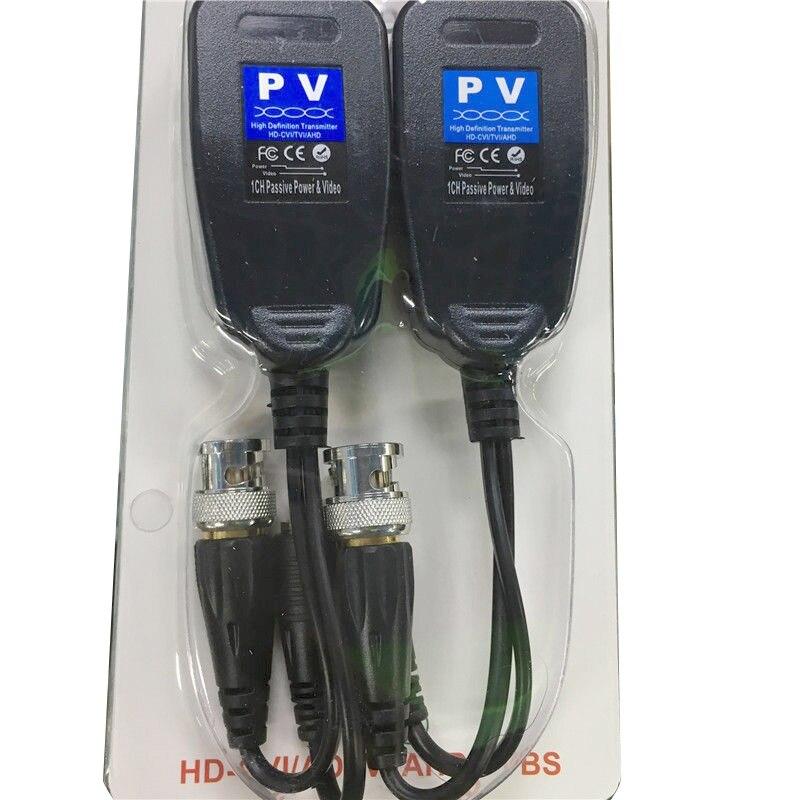 10 paires/lot nouvelle caméra de vidéosurveillance coaxiale BNC vidéo émetteur-récepteur à CAT5e 6 connecteur RJ45
