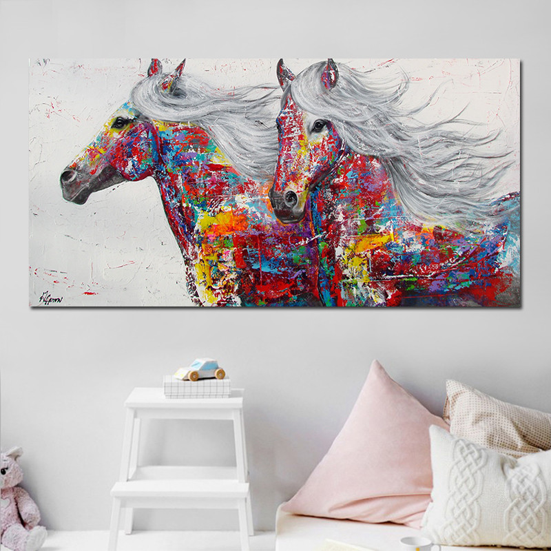 Pictures, Printed, Abstract, Giclee, Painting, Horse