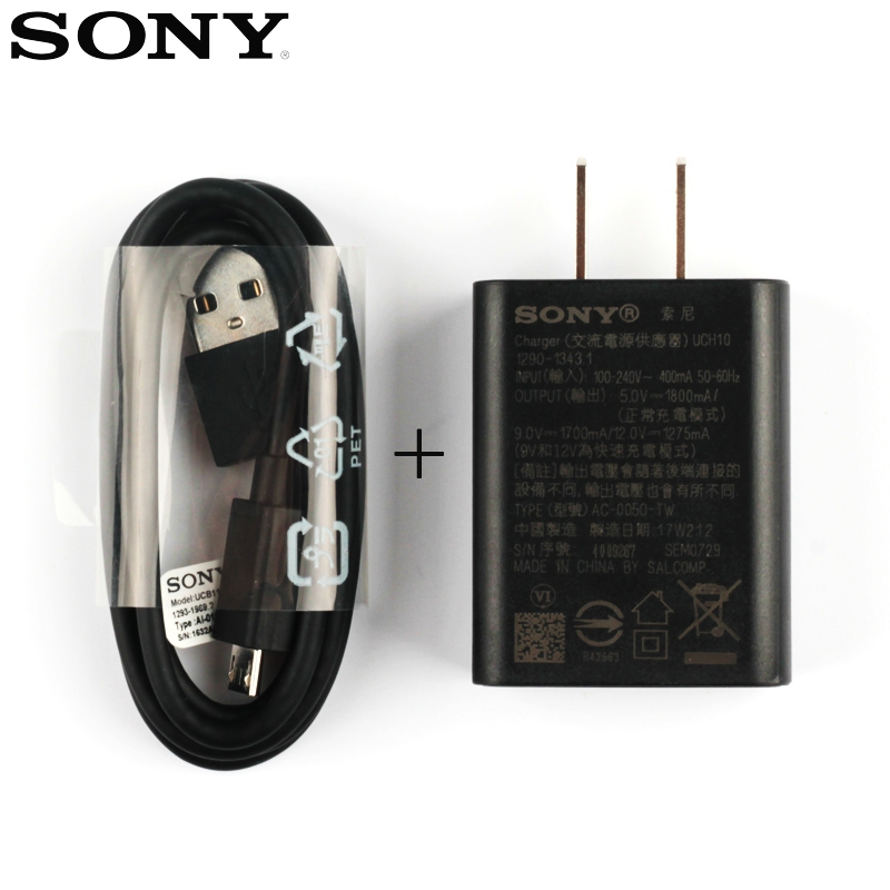 Adapter Fast Charging Charger UCH10 For Sony Xperia XA E5 Z5 Premium Z5 Compact XZ1 Premium E5553 Lavender F5122 F3113 e5823 in Mobile Phone Chargers from Cellphones Telecommunications