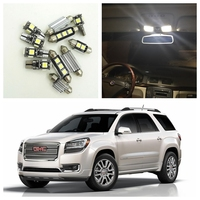 13Pcs Xenon White LED Lights Bulbs Interior Package Kit For 2007 2015 GMC Acadia Map Dome