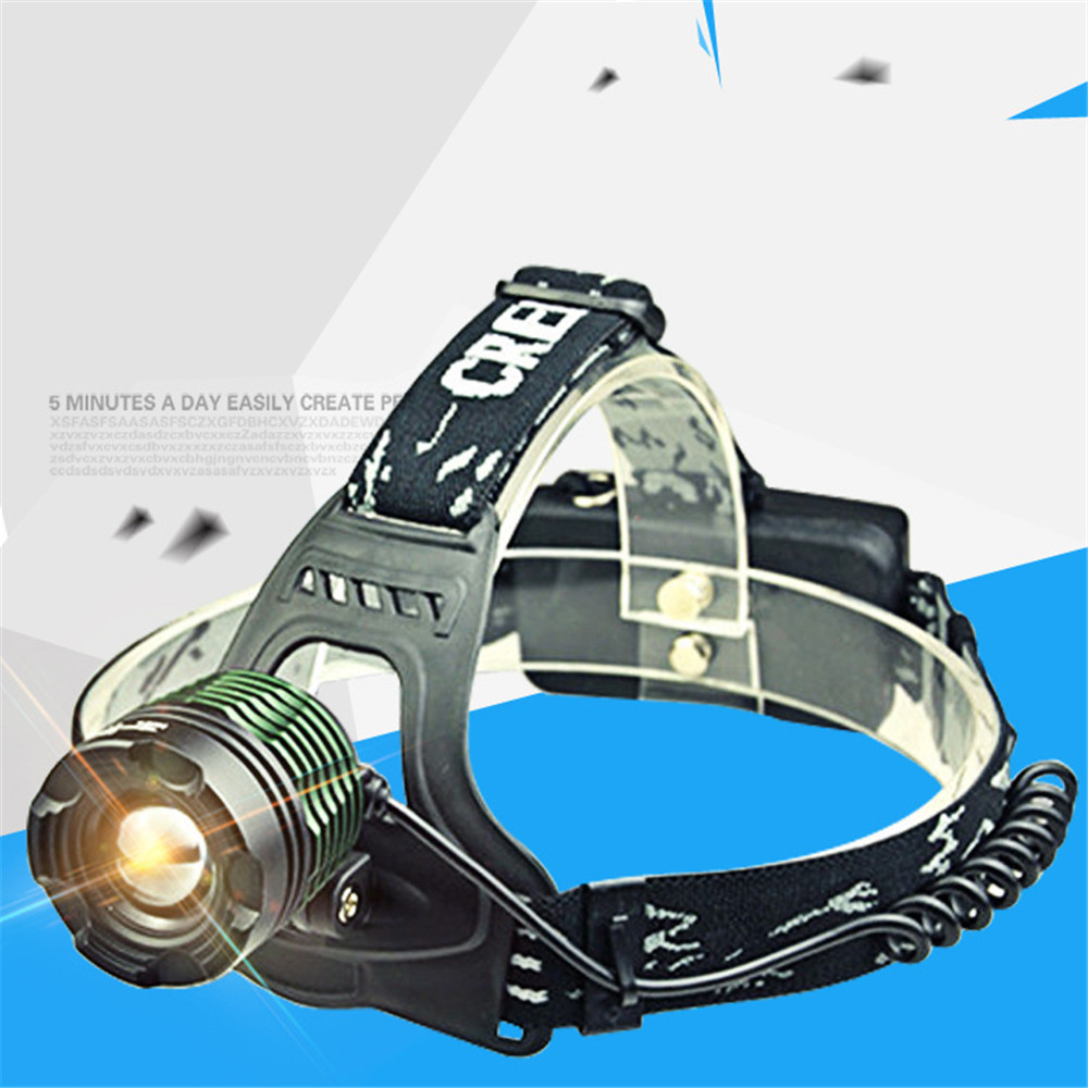 LED Outdoor Waterproof Sports Headlamp Headlight Torch Charge Zoom Strong light Long-range Fishing Head-worn Exploration Light