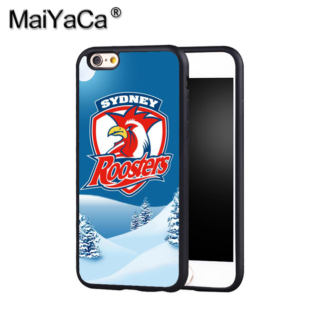 reputable site 90b17 b42fb US $6.3 |MaiYaCa NRL Sydney Roosters 6 Phone Case Cover For Iphone X 8 6 6S  Plus 7 7 Plus 5 5S 5C 4S SE Print Soft Rubber Case-in Fitted Cases from ...