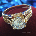 18K GOLD Filled GF  CRYSTAL ENGAGEMENT WEDDING SOLID RING R190 SZ M-Q