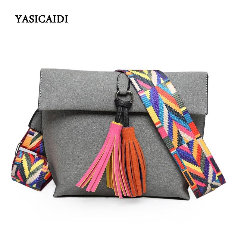 Small Women Bag Retro Small Ribbon Fashion Colorful Strap Bag Pu Leather Shoulder Bag Brand Desinger Ladies Crossbody Bag Female