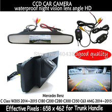 For Mercedes Benz CLA Class C117 2015 Car Rear View Camera Reverse Camera HD CCD RCA NTST cameraTrunk handle with mirror monitor