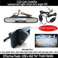Para Mercedes Benz Classe CLA C117 2015 Câmera de Visão Traseira Do Carro reverso Da Câmera CCD HD RCA NTST cameraTrunk lidar com monitor espelho