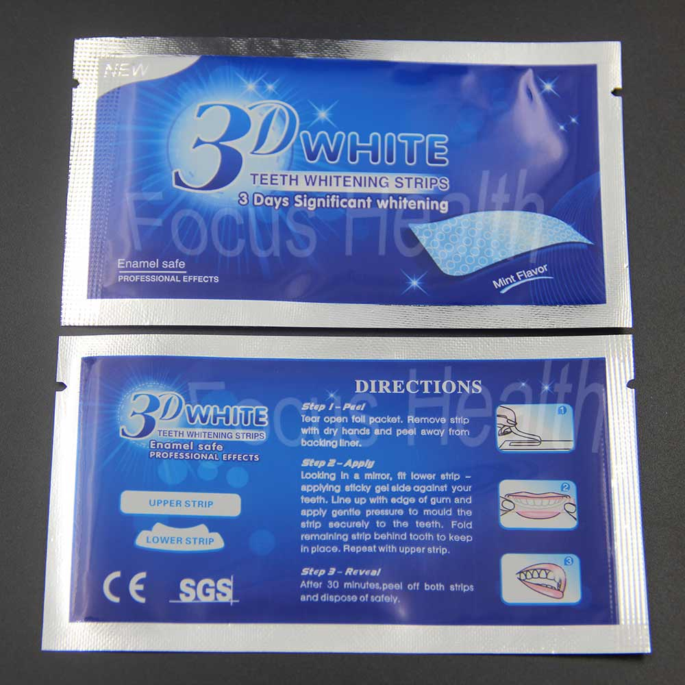 14 Pouches 28 Strips 3D Teeth Whitening Strips Bleach Bright White Dental Bleaching Veneers Tooth Whitener Oral Hygiene Care Strips