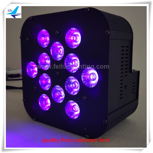 24pcs Disco lights led par 64 12x18w 6in1 par can lights led wash rgbwauv led par light flat wash light