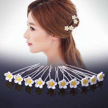 Cheap Sale 20Pcs Hairpins Hairstyles Wedding Bridal Hair Flowers Pins Hair  Accessories Hairwear Girls Hair Clips For Women men beaded bracelet red