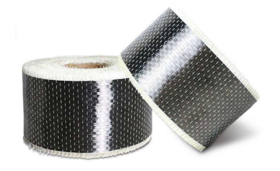 L 10meters Width 10cm Building Reinforced Carbon Fiber Cloth, High Temperature Resistant,reinforced Carbon Fiber Tape Material.