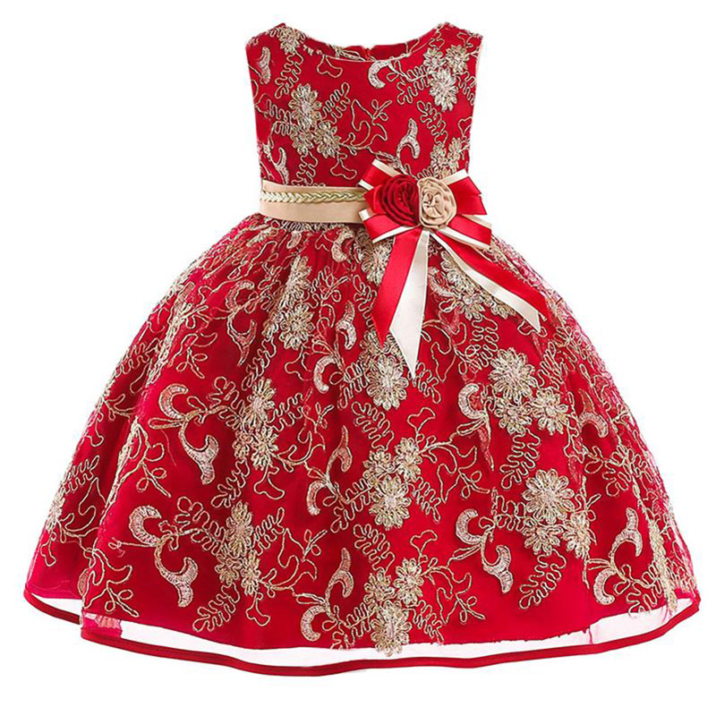 Child Party Dress First Communion Dresses For Girls Ball Gown For Girls Children's Clothing 3-10 Year Baby Tutu Costume L9030