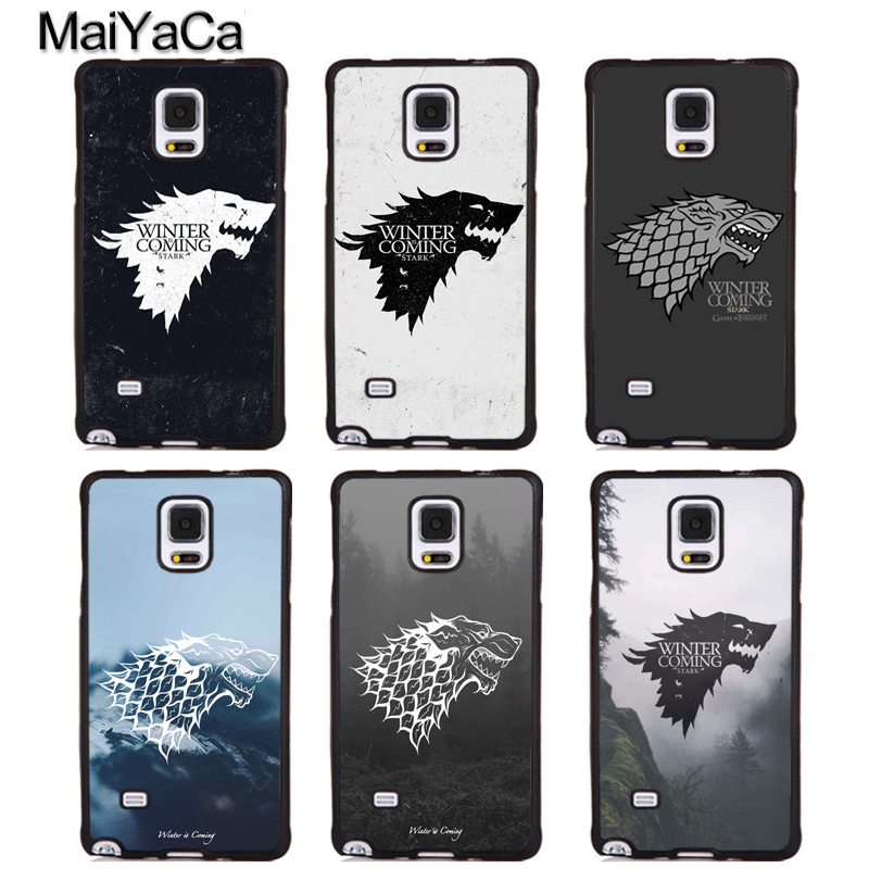MaiYaCa Game Of Throne Stark winter is coming Soft Rubber Skin Phone Cover For Samsung S6 S7 S8 S9 edge plus Note 5 8 Back Case