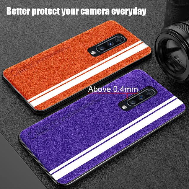 OnePlus 7 Pro Luxury Leather Silicone Soft Edge Protection Shockproof Back Case Cover
