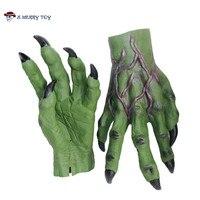 X-שמח צעצוע ליל כל הקדושים מפחידים מפלצת כפפות לטקס כפפות לטקס הטרור הארי פוטר Dementor ידיים משלוח חינם ידיים