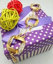 2016 Nigeria dubai women engagement gold plated jewelry sets fashion Indian jewelry sets heart shape wedding gift jewelry set
