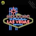 Неоновая вывеска для стеклянной трубки в Лас-Вегасе  Невада  добро пожаловать в сказочную световую вывеску  демонстрационный дизайн ручной ...
