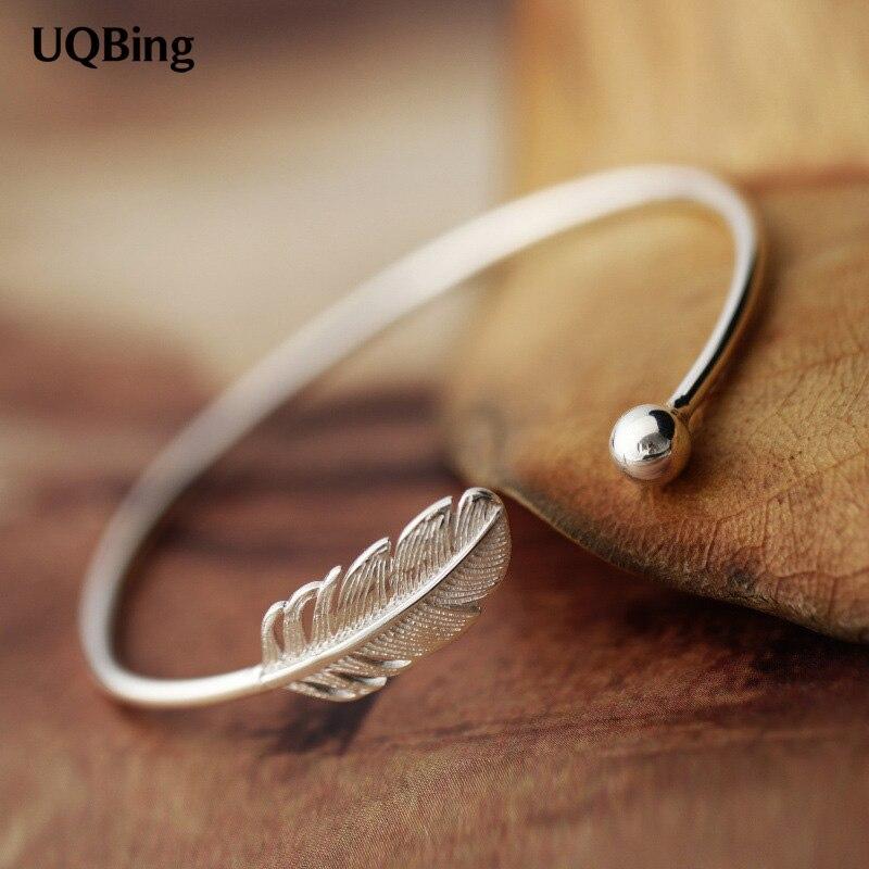 Mode Belle 925 Sterling Argent Bracelets Manchette Bracelets et Bracelets Femmes Accessoires Srebrna bransoletka