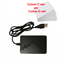 125khz RFID ID contactless smart card readers 13.56mhz NFC chip USB reader with 10 pcs cards