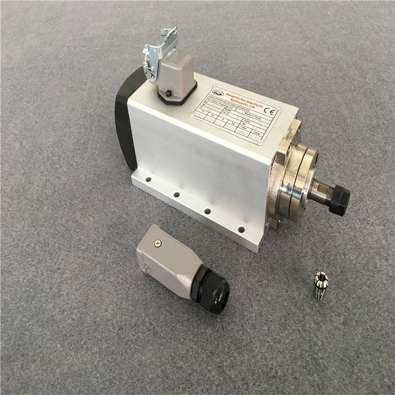 NEW FOUR BEARING ER11 1.5KW 220V <font><b>110V</b></font> AIR-COOLED <font><b>SPINDLE</b></font> <font><b>MOTOR</b></font> ENGRAVING MILLING GRIND image