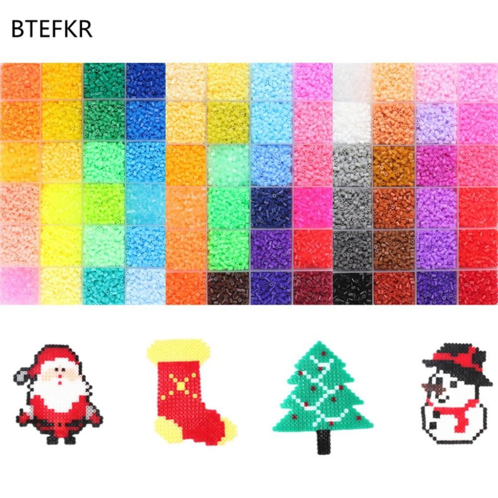 72 색상 72000 pcs 2.6mm 하마 비즈 3d 퍼즐 완구 어린이를위한 juguetes 키즈 교육 완구 perler beads perles de hama-에서퍼즐부터 완구 & 취미 의  그룹 1