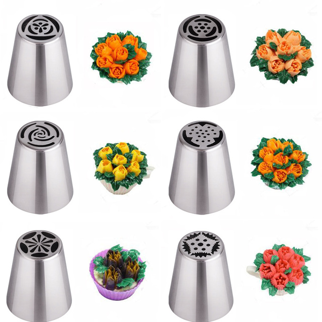 Nozzles Cake Cupcake Decoration Nozzles Stainless 2