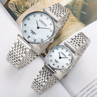 Famous Brand CHENXI Men Women Stainless Steel Quartz Watch Military Crystal Casual Analog Watches Relogio Masculino