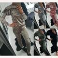 5 Colores de Terciopelo Mono de Los Mamelucos 2016 Otoño Invierno Traje de Terciopelo de Oro de Manga Larga de Cuello de Slash Sexy Mamelucos Womens Jumpsuit
