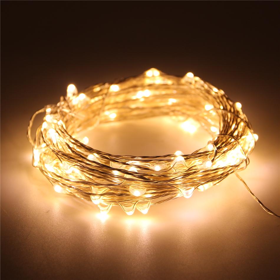 m los ft leds v usb led blanco clido plata alambre de cobre