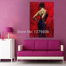 100% Handpainted High Quality Oil Painting Sexy Girl For Living Room Decor Wall Picture Home Decorative Art Paint on Canvas