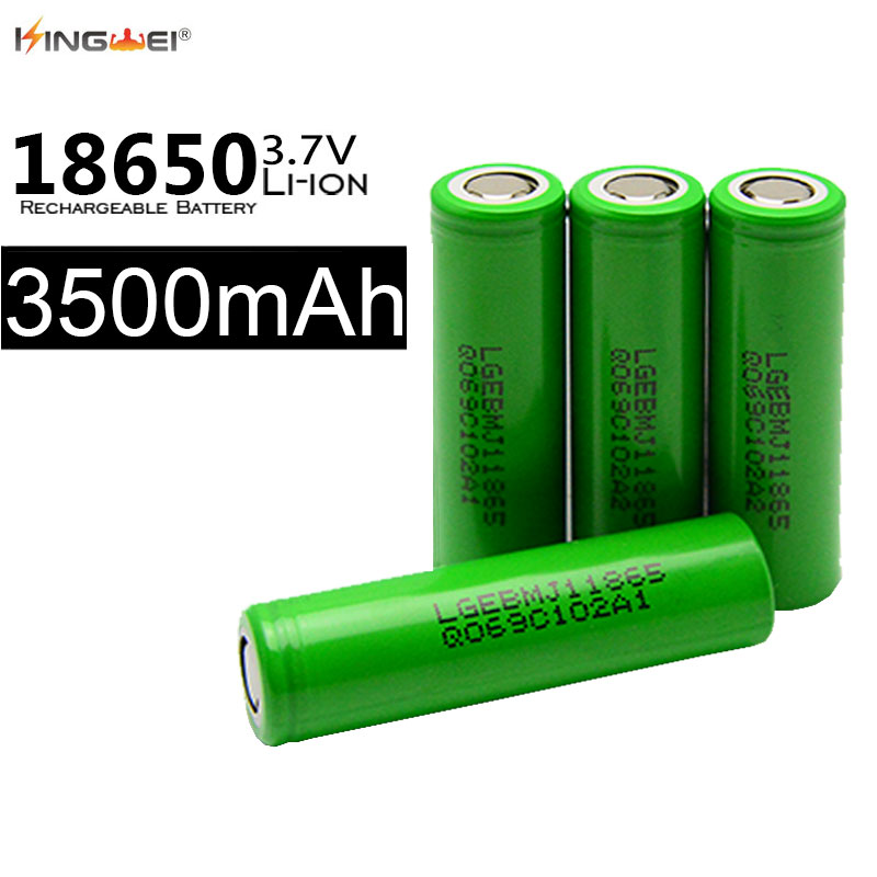 US $27 88 8% OFF|4pcs Wholesale for LG battery 3500mah Batteries 3 7v icr  18650 li ion rechargeable battery for powerbank e cigarette-in Replacement