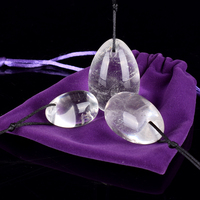 Jade Eggs 3pcs Drilled Kegel Eggs Natural Quartz Yoni Gemstone Muscle Kegel Exercise Healing Reiki For