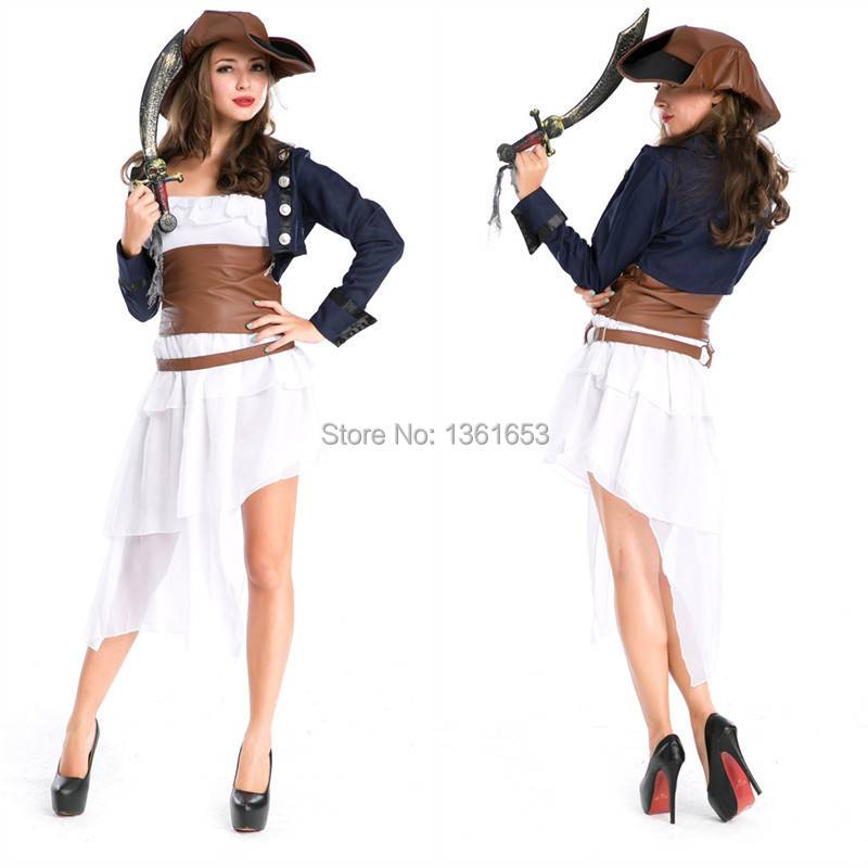 halloween hot costume for women Gothic temperament queen cosplay dresses viking Pirates of the Caribbean cos Female evil outfit
