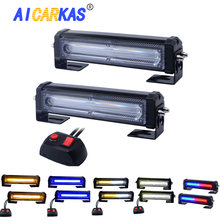 AICARKAS 9 Flash Patterns LED Emergency Flashing Strobe Lights for Cars Amber Blue LED Strobe Lights 12V 24V Safety Light Bars
