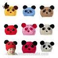 WomensDate New Fashion Autumn Winter Lovely Animal Panda Hat Baby knitted Hats Boy Girls Warm Crochet Cap Baby Kids Beanie 1Pc