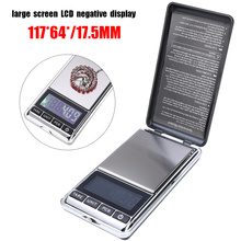 Mini Pocket Scale Large screen LCD Display Digital Electronic Jewelry Weighing Scale 500g/0.01g Gold Silver Coin High Accuracy wholesale 5pcs timetop 2000g 0 1g lcd display mini digital pocket electronic jewelry scale