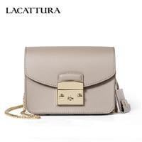 LACATTURA Mini Candy Bag Women Messenger Bags Cowhide Leather Brand Handbag Ladies Chain Shoulder Bag fashion Crossbody new item