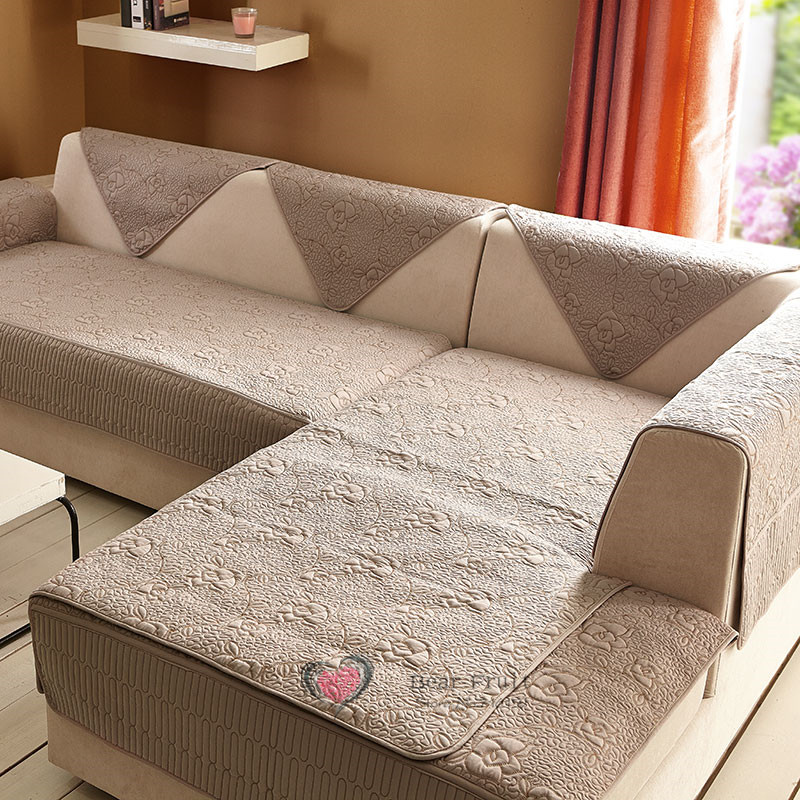 Rose Flower Sectional Sofa Towel Set Covers For Home Textile Cloth Fabric Corner Cover Slipcover Three Colour Sf001 In From