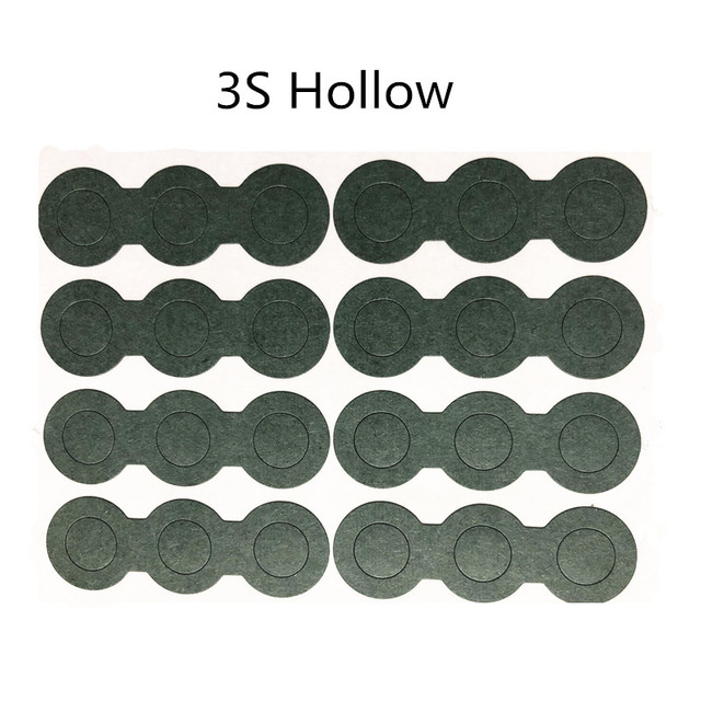 1PCS  3S Barley paper For 18650 lithium battery insulation gasket battery hollow solid gasket with adhesive
