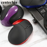 Healthy Wireless Vertical Mouse Ergonomic 6 Buttons With DPI Switch Optical Built In Battery Mute Mouses