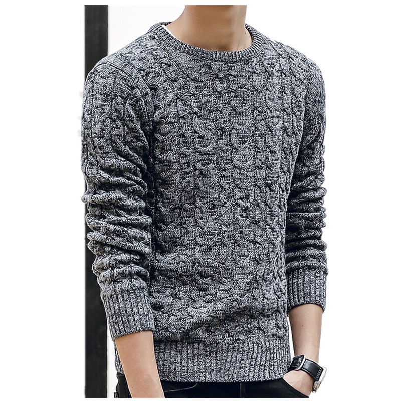 New Mens Sweaters 2019 New Fahsion O Neck Winter Sweater Men Pullover Long Sleeve Casual Men Jumper Sweater Fashion Clothes(China)