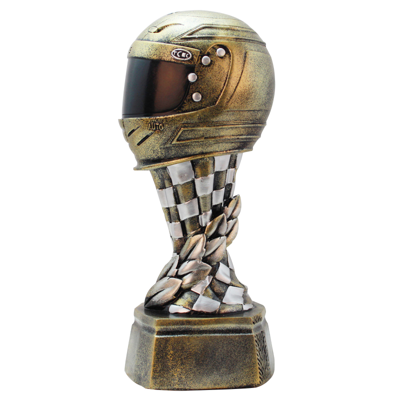 Europe résine or casque de course créatif trophée ornement sport mémorial Statue Miniature décor à la maison accessoires cadeau d'anniversaire-in Figurines et miniatures from Maison & Animalerie    1